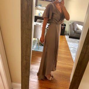 Show Me Your MuMu Dresses - Show Me Your MuMu - Taupe Maxi Dress